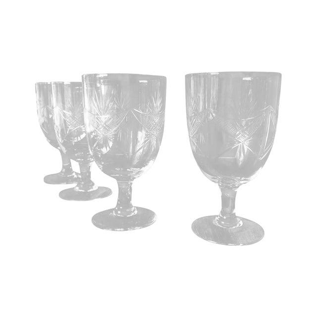 1940s Etched Wine Glasses/Goblets - Set of 8 - Image 1 of 6