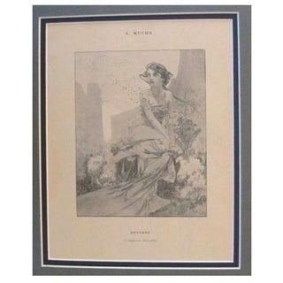 1899 Original Mucha Cocorico Illustration Oct.