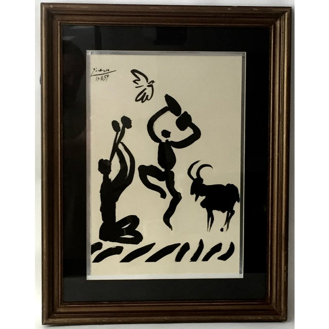 """Image of 1959 Picasso Lithograph """"Goat Dance"""""""