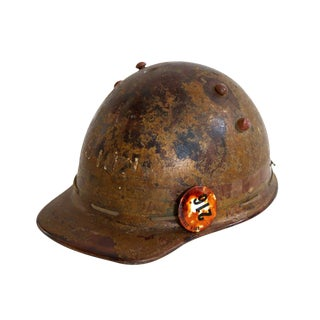Brown Hard Hat With Pin