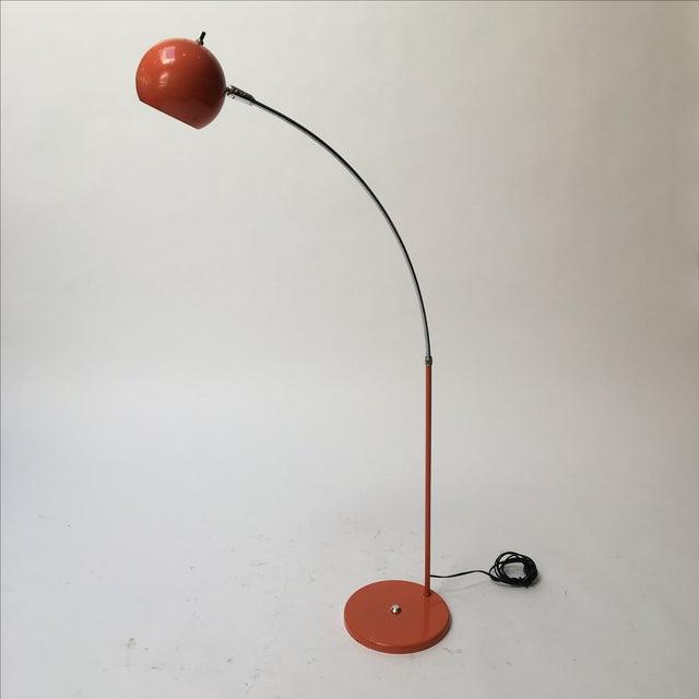 Vintage Orange Arc Lamp - Image 3 of 11