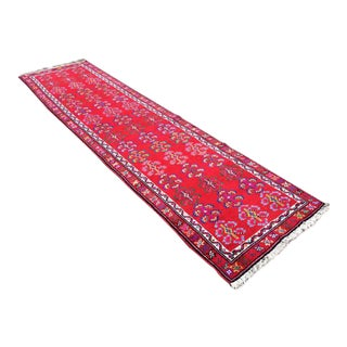 Vintage Turkish Runner Rug - 3′3″ × 12′