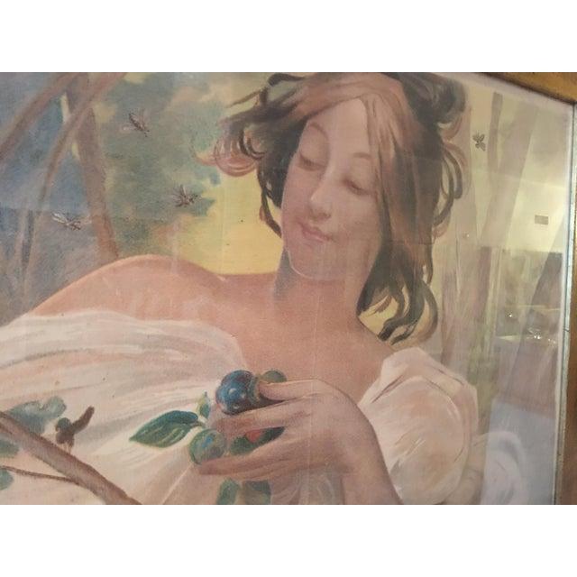 Art Nouveau 'Lady & Flowers' Poster - Image 5 of 10