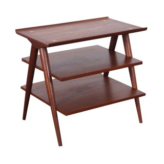 Vintage Three Tiered Table by Merton Gershun for American of Martinsville