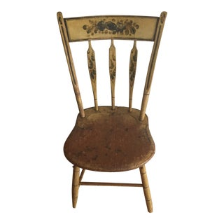 Antique Painted Arrow Back Chair