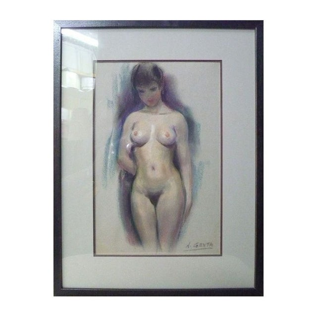 Image of Mid-Century French Nude Painting by Albert Genta