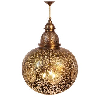 Moroccan Brass Globe Lantern