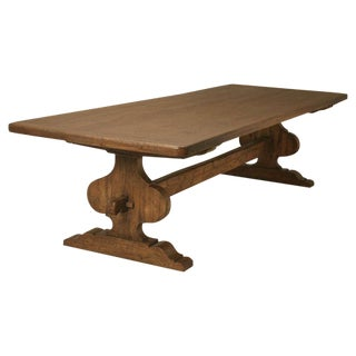 Italian Trestle Dining Table from Reclaimed Wood