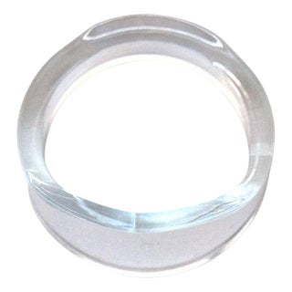 Clear Lucite Napkin Rings
