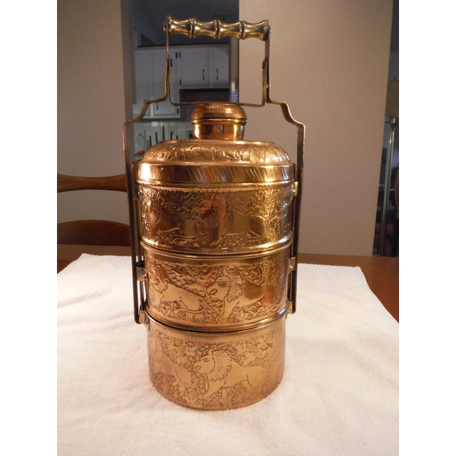 """Vintage Copper Clad """"Tiffin"""" or """"Dabba"""" - Image 2 of 9"""