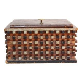 Folk Tramp Art-Style Decorative Box