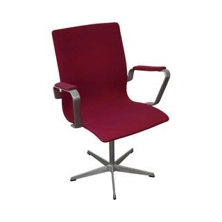 Fritz Hansen Swivel Oxford Aluminum Office Arm Chair