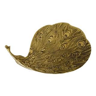 Brass Trivet Peacock