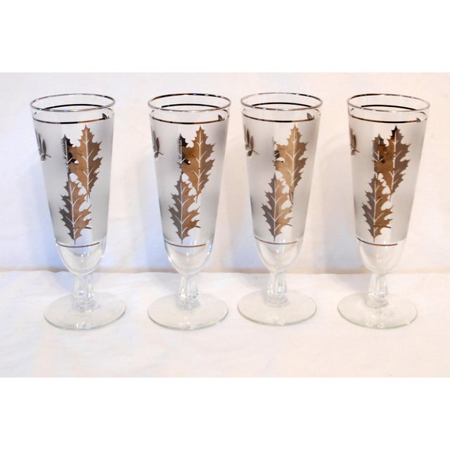 Image of Libbey Silver Leaf Wine & Beer Glasses - Set of 10