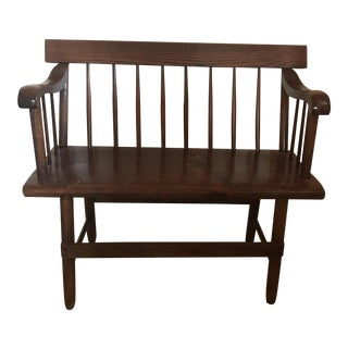 Antique 1850-60 Pine Deacon's Bench