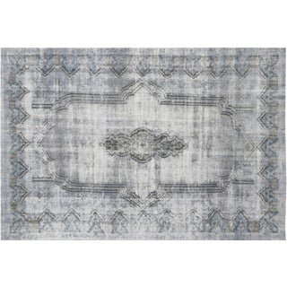 """vintage Overdyed Persian Rug, 6'8"""" x 9'8"""""""
