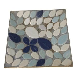 1960's Blue Mosaic Tile Trinket Dish