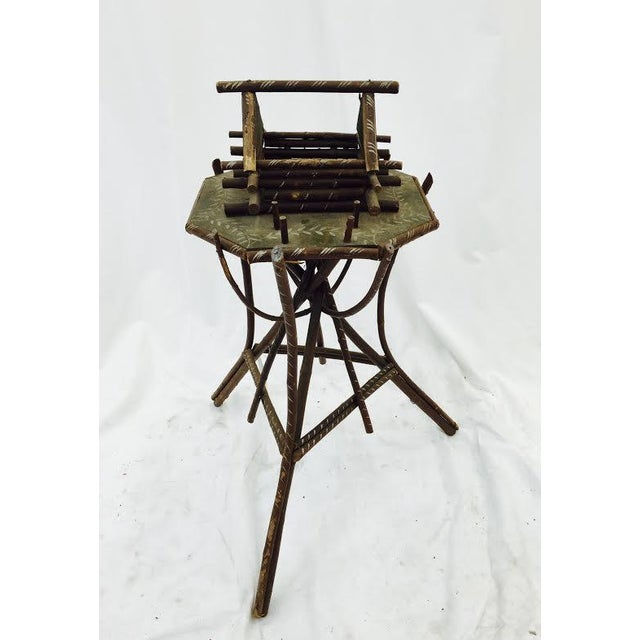 Folk Art Twig Game Table - Image 2 of 7