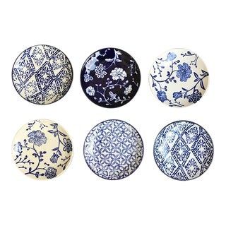 Blue Willow Inspired Appetizer Plates - Set of 6