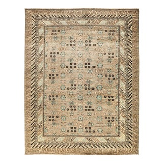 """Eclectic, Hand Knotted Area Rug - 9' 1"""" x 11' 7"""""""