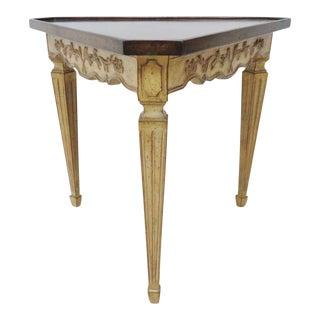 Italian Corner Table W/ Floral Motif