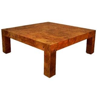 Milo Baughman Burl Parsons Coffee Table