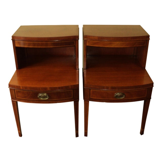 Antique Federal Style Mahogany Nightstands - A Pair - Image 1 of 8