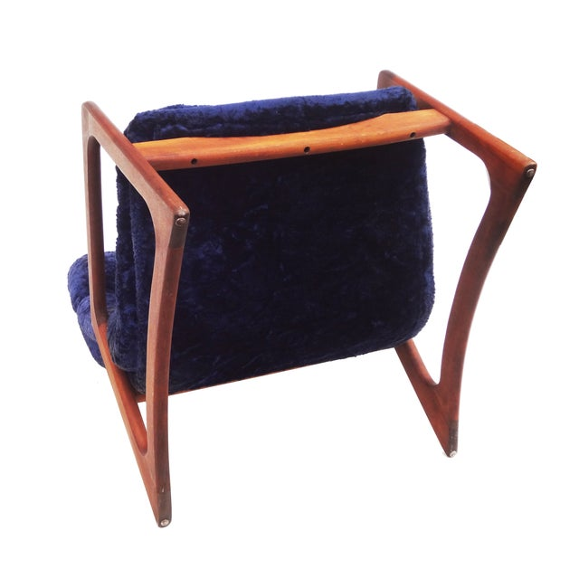 Adrian Pearsall for Craft Blue Lounge Chair - Image 9 of 10