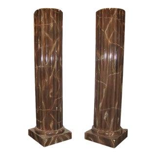 Column Style Pedestals - A Pair