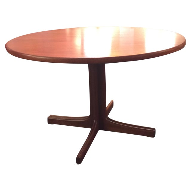 Image of Solid Teak Table With 2 Leaves by J. O. Carlsson