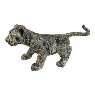 Vintage Mexican Sterling Silver Lion Cub Figure