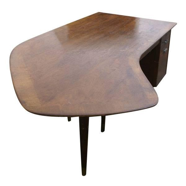 Standard Mid Century Boomerang Desk - Image 2 of 7