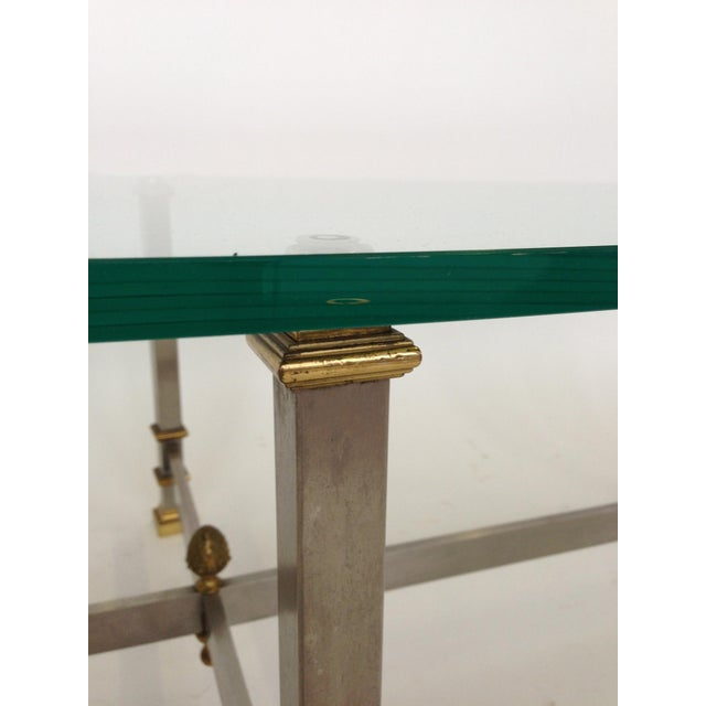 Image of Maison Jansen Style Chrome & Brass Coffee Table