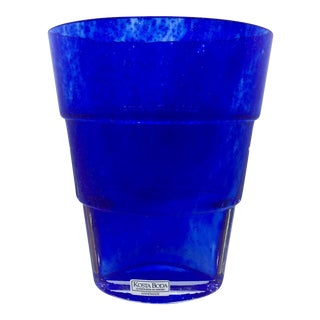 Kosta Boda by Ann Wahlstrom Modern Blue Vase