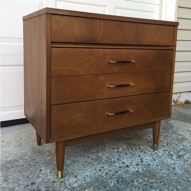 Mid-Century Modern Three Drawer Walnut Dresser - Image 3 of 8