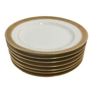 Elegant Gold Rim Dessert/Butter Plates S/7