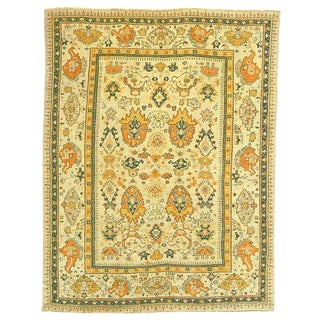 "Antique Anatolian Oushak Carpet - 11'10"" x 9'2"""