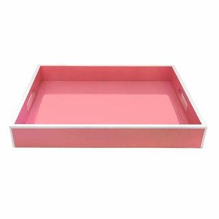 Pink Lacquer Serving Tray