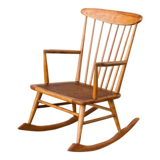 Mid Century Danish Modern George Nakashima Style Spindle Back Rocking Chair