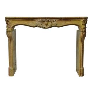 French Limestone Louis XV Fireplace