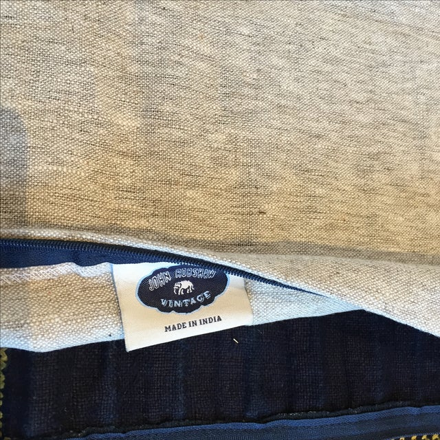 John Robshaw Vintage Batik Indigo Pillow Cover - Image 7 of 7