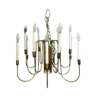 Lightolier Classic Brass Chandelier