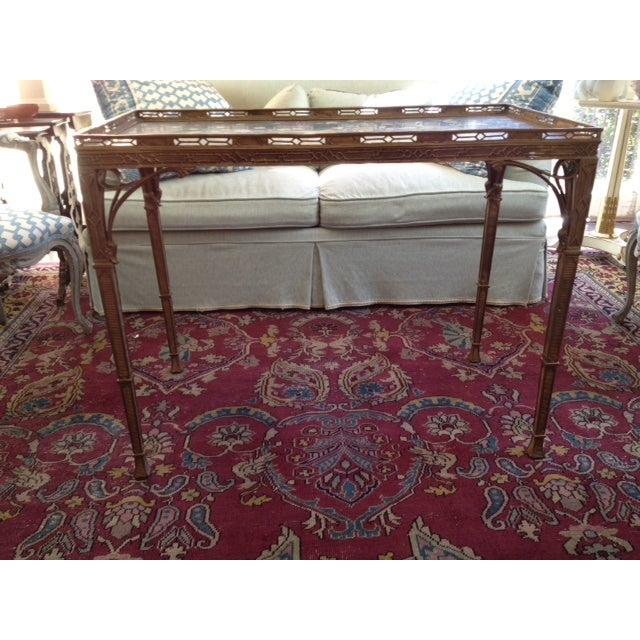Image of Antique 19th C. Chinoiserie Bronze Console Table