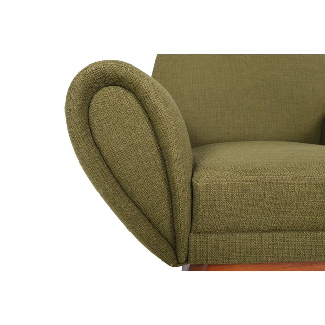 Johannes Andersen Lounge Chair in Olive - Image 10 of 11