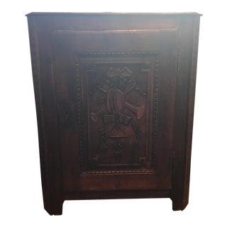Antique Carved Corner Cabinet