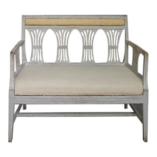Neoclassical Sofa Bench with Wheat Sheaf Back (#61-15)