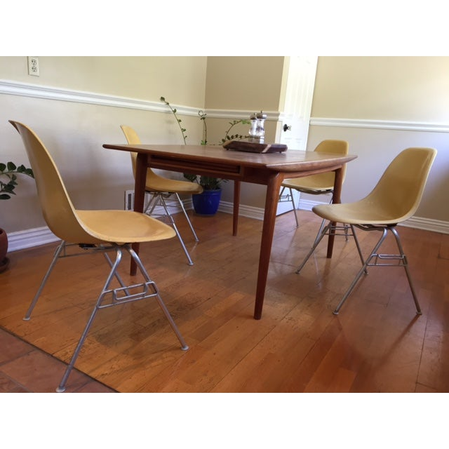 Vintage Yellow Eames Shell Chairs - Set of 4 - Image 3 of 10