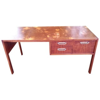 Baker Furniture Mid-Century Walnut Desk