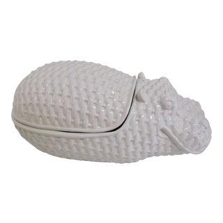 Vintage Italian Hippopotamus Ceramic Tureen