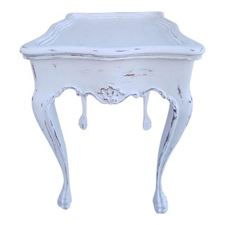 Shabby Chic White Accent Table
